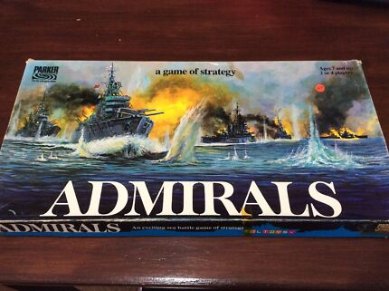 Vintage board game Admiral