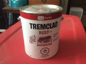 Red tremclad paint