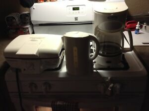 Coffee Pot, Grille, Kettle-$25-All 3