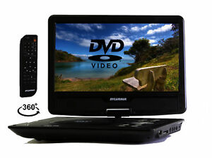 Sylvania 10-Inch Portable DVD Player, Swivel Screen, Car Adapter  - Black