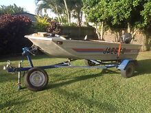 Seajay V Nose Punt - 18HP Tohatsu two stroke and trailer Ooralea Mackay City Preview