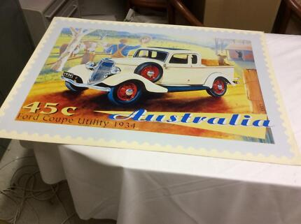 Australia Post 34 Ford Couoe Utility Poster