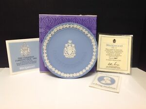 Wedgewood Canadian Constitution commemorate plate