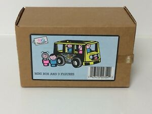 Fisher Price vintage Little People Pampers promo Mini Bus, RARE