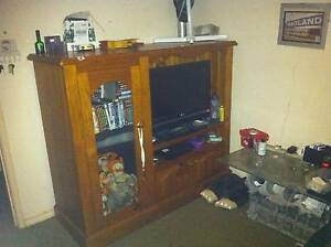 Timber (Pine)  TV Cabinet entertainment unit size of 150x130x56cm Port Macquarie Port Macquarie City Preview