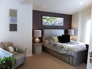 Queen bed with double drawers & matching tub chair Gymea Bay Sutherland Area Preview