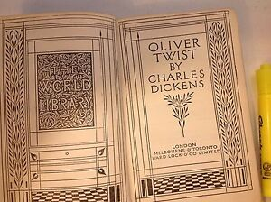 old copy of Oliver Twist by Charles Dickens