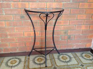 Wrought iron and glass hall table Duncraig Joondalup Area Preview