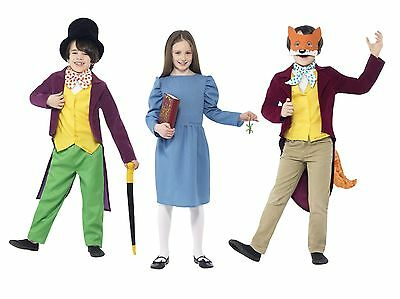 CHILD MR FOX WILLY WONKA OR MATILDA BOOK WEEK COSTUMES FANCY DRESS