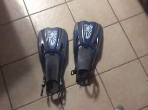 Flippers and snorkel