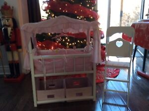 Toy crib and high chair
