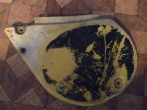 1978 Yamaha YZ250 YZ400 Left Side Cover Number Plate Panel