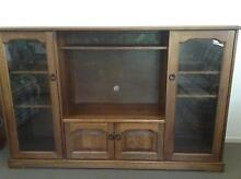 Solid style tv unit with glass cabinets each side Thornlands Redland Area Preview