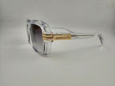 Cazal Legends Crystal Clear/Gold Gray Retro Fashion Sunglasses new (Clear Cazal Sunglasses)