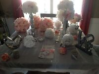 Pink And Silver Sparkle Wedding Decorations