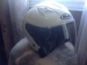 White open face Motorcycle/atv helmet