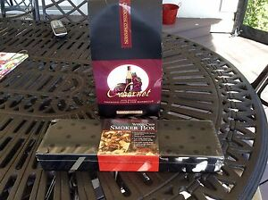 Wood Chip Smoker Box & Wine  Soaked Chips for BBQ