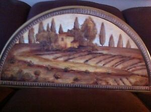 Villa de Toscana Picture on Wood