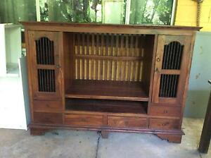 Solid  Mahogany TV Unit Howard Springs Litchfield Area Preview
