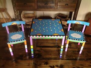 Children's table and 2 chairs