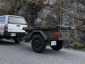 Canadian Military M101 Army Trailer