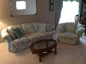 Sofa and chair set.   NEW PRICE