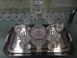 France crystal decanter & 6 wine glasses Ottoway Port Adelaide Area Preview