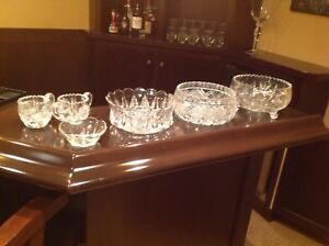 Glass and crystal bowls