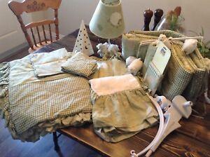 Nursery decor and crib bedding set