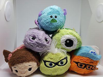 Monsters Inc. Disney Tsum Tsum Plush - Set of 6 - NWT Mike Sully Boo Roz Randall