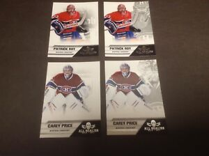 Cartes hockey Panini All Goalies 10-11 Price Roy