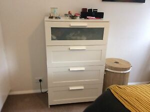 White chest of drawers Cremorne North Sydney Area Preview