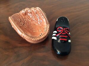 Baseball Mitt and cleat Salt and Pepper shakers