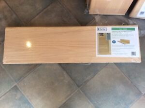 Oak Tread and Riser Remodelling Kit for closed staircase