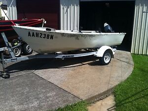 Tinny trailer and outboard Caves Beach Lake Macquarie Area Preview