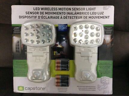 LED Wireless Motion Sensor Light - Double Pack - Brand New