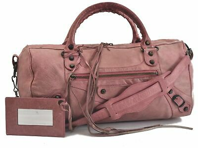 Authentic BALENCIAGA Classic Twiggy 2Way Shoulder Hand Bag Leather Pink B8286
