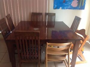 wooden dining table in Sydney Region NSW