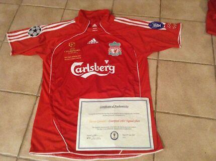 Liverpool signed shirt champions league final 2007 Steven Gerrard