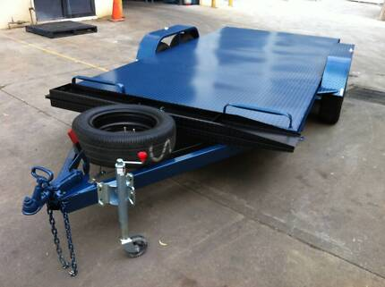 CAR TRAILER 14X6.6FT TANDEM AXLE 12FT 14FT ALSO AVAILABLE Ingleburn Campbelltown Area Preview