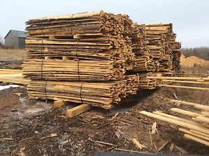 Soft wood slabs and sawdust for sale