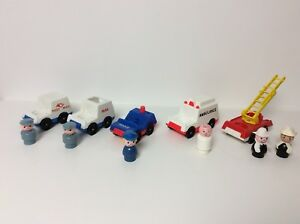 Fisher Price vintage Little People vehicles set of five