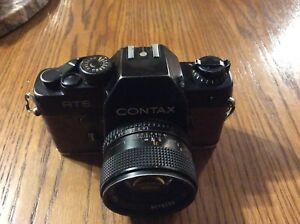 Carl Zeiss 50mm 1.4 lens and Contacts RTS camera combo!!!