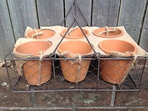 Vintage country look terracotta display set garden pot planter Northwood Lane Cove Area Preview