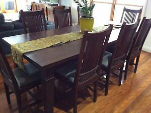 8 Seater Dining Room Table & Chairs Bondi Beach Eastern Suburbs Preview