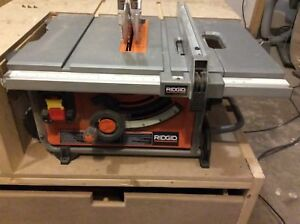 Ridgid 10 inch table saw barely used!