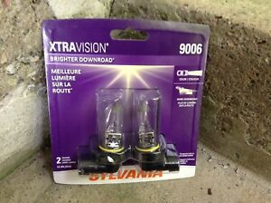 Sylvania Xtravision 9006 Headlight Bulbs, new in package