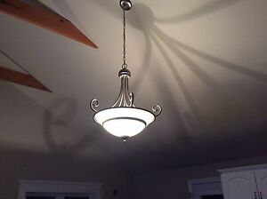 "Ceiling Light.  Silver.  18"".  Please Contact"