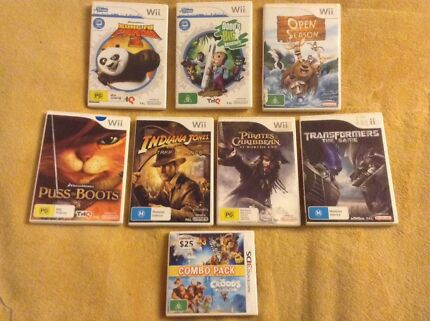 Nintendo Wii 3DS games, Pirates of the Caribbean, Transformers, Bundle