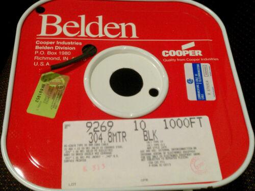 Belden 9269 Coaxial Cable, RG-62A/U,  Black, 1000 ft.
